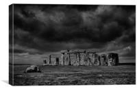 Stonehenge, with dramatic sky, Canvas Print