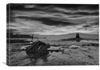 Black Nab with dramatic sky, Canvas Print