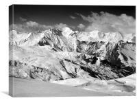 Courchevel mountainscape, Canvas Print