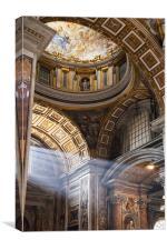 Inside St Peters, Rome, Canvas Print