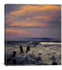 Evening Surf, Canvas Print