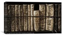 Ancient books, Canvas Print