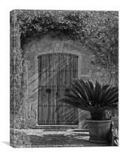 Mediterranean courtyard, Canvas Print