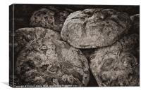 Rustic bread loaves, Canvas Print