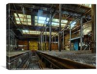Abandoned workshop, Canvas Print