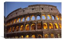 Colosseum at dusk, Rome, Canvas Print