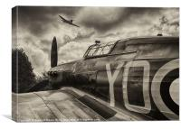 Hurricane and Spitfire, Canvas Print