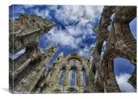Inside Whitby Abbey, Canvas Print