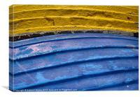Row boats abstract, Canvas Print