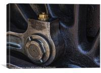 Steam train wheel, Canvas Print