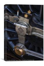 Steam engine wheel, Canvas Print