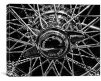 Wire Wheel, Canvas Print