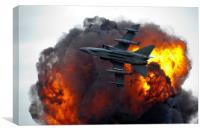 Jet fighter, Canvas Print