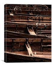 Row Boats, Canvas Print