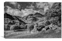 Langdale Pikes from Copt Howe, Canvas Print
