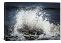 Breaking wave, Canvas Print