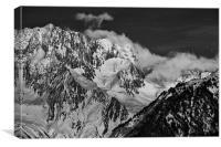 Mountains above Courchevel, Canvas Print