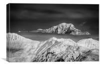 Mont Blanc, Canvas Print