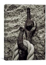 Rope on hook, Canvas Print