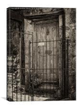 Old doorway, Canvas Print