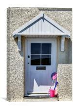 Door with bucket and spade, Canvas Print