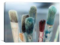 Artists paint brushes, Canvas Print