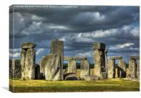 Stonehenge in gathering storm, Canvas Print