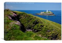 Godrevy Head lighthouse, Canvas Print