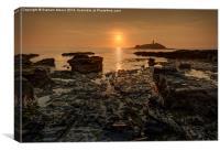 Godrevy sunset, Canvas Print