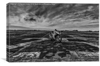 Sports motorbike, Canvas Print