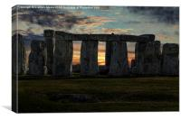 Stonehenge Winter Solstice, Canvas Print