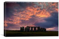 Stonehenge Winter Solstice, Canvas Print