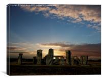 Stonehenge summer solstice sunrise, Canvas Print