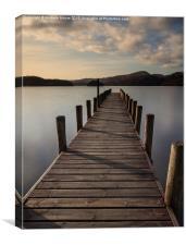 Coniston jetty, Canvas Print