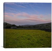 Muker meadows sunset, Canvas Print