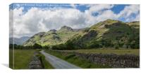 Langdale Pikes from Green Lane, Canvas Print