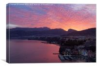 Sorrento sunrise, Canvas Print