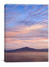 Vesuvius sunrise, Canvas Print