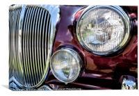 Classic Jaguar car, Canvas Print