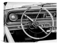 Chevrolet Impala interior, Canvas Print
