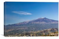 Mount Etna, Canvas Print