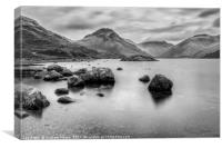 Wastwater long exp, Canvas Print