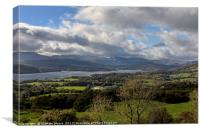 Orrest Head and Windermere, Canvas Print