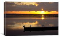 Birds eye view of a West kirby sunset, Canvas Print