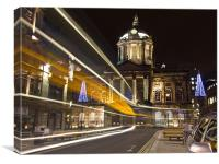 Liverpool Town Hall light trails, Canvas Print