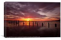 Caldy beach sunset 03/04/2013, Canvas Print