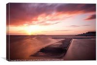 West Kirby marine lake sunset, Canvas Print