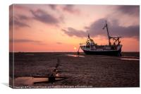Meols beach sunset, Canvas Print