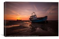 Meols sunburst, Canvas Print