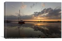Meols reflections, Canvas Print